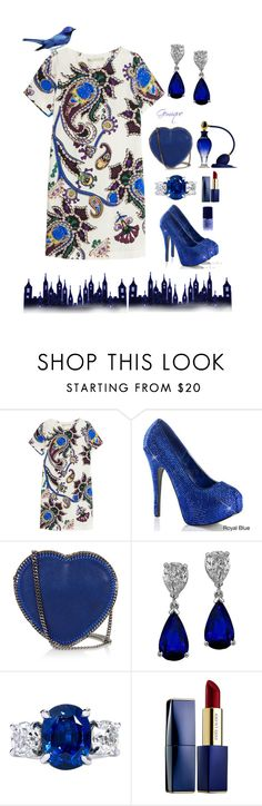 """""""Blue Bird of Winter"""" by gemique ❤ liked on Polyvore featuring Mary Katrantzou, STELLA McCARTNEY, Estée Lauder, NARS Cosmetics, women's clothing, women's fashion, women, female, woman and misses"""