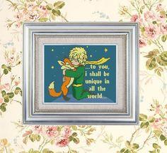 Modern Cross stitch pattern quote Little prince by HELENEWORKSHOP