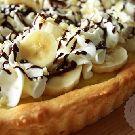 Bananensplit vlaai Kokos Cupcakes, Sugar Pie, Cookie Pie, Pie Recipes, Cake Cookies, Delicious Desserts, Tart, Nom Nom, Waffles