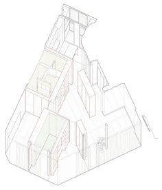 Home in Mitre,Axonometric