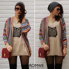 Ethnic+Style+Batwing+Sleeves+Cardigan