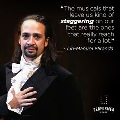What musical made you stagger on your feet? Theatre Quotes, Lin Manuel Miranda, Musicals, Encouragement, Fictional Characters, Fantasy Characters, Theater Quotes, Film Quotes, Musical Theatre