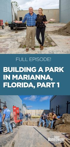 """Did you miss our """"Hope for a Hometown"""" series, where we and over 100 volunteers built a pocket park in Marianna, #Florida? No problem! Stream Part 1, the FULL episode, here. #todayshomeowner #dannylipford #chelsealipfordwolf #diy #homeimprovement #homeimprovementtvshow #tvshows #community #park Marianna Florida, Pocket Park, Home Improvement Tv Show, Improve Yourself, Community, Watch Full Episodes, Volunteers, Building, Chelsea"""