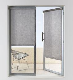 Roller Shade On Doors By The Shade Store. Gray For Bedroom Door/ Windows