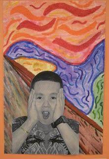 E.Munch  Foto van kinderen op achtergrond.