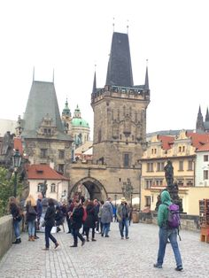 Lesser town bridge tower in Prague, Chalres Bridge