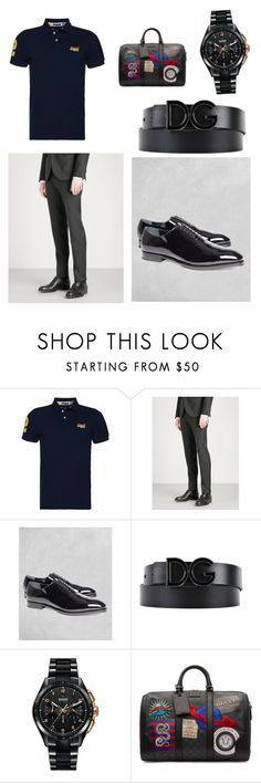 """""""Chico elegante, éxito asegurado"""" by reinenoire ❤ liked on Polyvore featuring Superdry, Dsquared2, Brooks Brothers, Dolce&Gabbana, Rado, Gucci, men's fashion and menswear"""