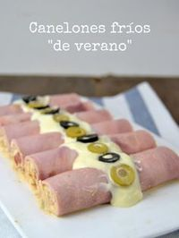 "Canelones fríos ""de verano""  Fresh ham rolls filled with tuna 