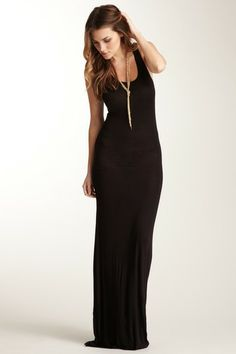 Scoop Neck Maxi Dress by Go Couture on @HauteLook Every gal should have a black maxi dress!