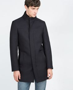 STRUCTURED COAT WITH REMOVABLE COLLAR-MUST HAVES-MAN | ZARA United States