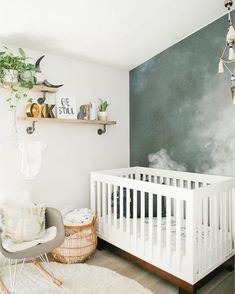 Contemporary Baby Bedroom With Modern Baby Girl Princess: Modern Smoke Mural Nursery For A Baby Boy Baby Bedroom, Baby Boy Rooms, Baby Room Decor, Baby Boy Nurseries, Nursery Room, Girl Nursery, Kids Bedroom, Nursery Decor, Kids Rooms