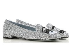 Chiara Ferragni Silver Shoes, Loafers, Fashion, Zapatos, Travel Shoes, Moda, Moccasins, Fashion Styles, Fashion Illustrations
