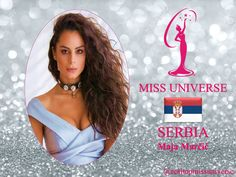 Maja Marcic Miss Universe 2018 contestant banner Serbia