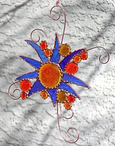 Stained glass Burst by Dianne McGhee