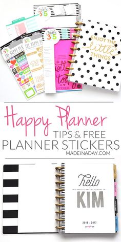 My New Addiction the Happy Planner + FREE Planner Stickers Come see why I love my new Happy Planner + planner…Edit description Planner Free, To Do Planner, Planner Tips, Planner Layout, Planner Pages, 2015 Planner, Planner Supplies, Agenda Planner, Planner Inserts