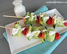 There are over a hundred easy, quick and delicious skewer & kabob recipes for grilling. Kabobs are perfect for backyard BBQs or quick dinners on a hot day. Kabob Recipes, Appetizer Recipes, Salad Recipes, Cold Appetizers, Cake Recipes, Crudite, Clean Eating, Healthy Eating, Good Food