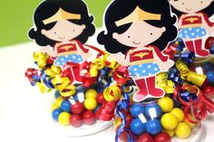 #WonderWoman inspired candy favors