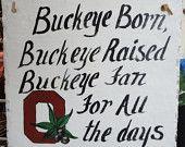 Sign Ohio State buckeyes  painted on antique slate OSU Fan