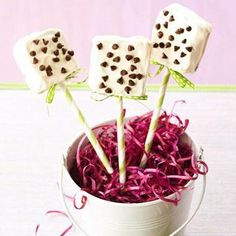 Brownie Cake Squares on a Stick