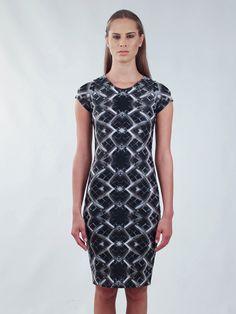 Grid Pencil Dress by PANK Short Sleeve Dresses, Dresses With Sleeves, Pencil Dress, Grid, High Neck Dress, Bodycon Dress, Trending Outfits, Unique, Etsy