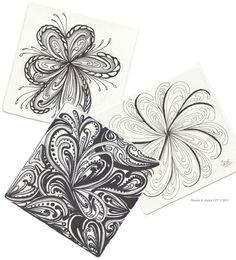 Images of Zentangle | Sharla Hicks CZT Zentangle® Tile Copyright 2011