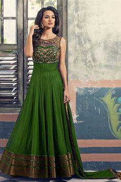 Online Shopping of Fabulous Net-Georgette Party Wear Anarkali Suit-1 from SareesBazaar, leading online ethnic clothing store offering latest collection of sarees, salwar suits, lehengas & kurtis