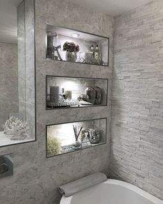 ✔ top 45 best modern bathroom with wall mounted ideas in 2019 32 ✔ top 45 bestes modernes bad mit wandmontierten ideen im jahr 2019 31 Bathroom Inspo, Basement Bathroom, Bathroom Inspiration, Small Bathroom, Bathroom Ideas, Bathroom Grey, Budget Bathroom, Bathroom Wall, Master Bathroom