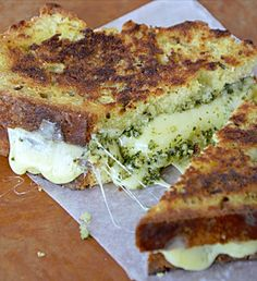 Irish Soda Bread Grilled Cheese w/ Pesto...