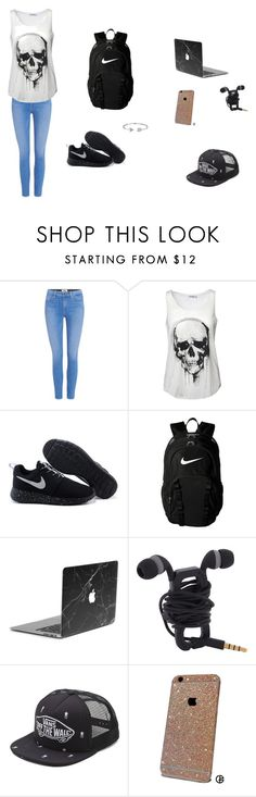 """""""School Day"""" by rinadedvukaj ❤ liked on Polyvore featuring Paige Denim, NIKE, Vans and Bling Jewelry"""