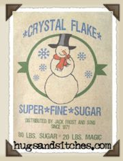 Crystal Flake Sugar Feedsack