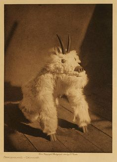 edward s. curtis, circa 1914. The thing that creeps me out about this...I bought a doll, at a thrift store, that looks quite similar to this! Still don't know what it is.