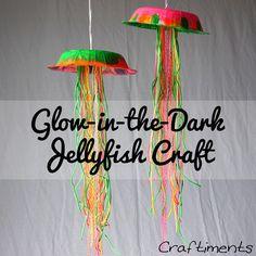 Glow in the dark jellyfish craft summer diy crafts diy crafts summer crafts glow in the dark jellyfish Summer Crafts For Kids, Diy For Kids, Summer Ideas, Summer Art, 4 Kids, Craft Activities, Preschool Crafts, Classroom Crafts, Toddler Crafts