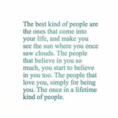 Cheers for the once in a lifetime people out there!