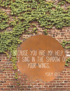 Psalm 63:7 - Inspiration behind the feather design. #BrineSupply - www.brinesupply.tumblr.com