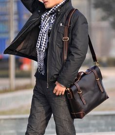 "Handmade Leather Briefcase / Messenger / 13"" 14"" Laptop 13"" 15"" MacBook Bag"