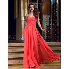 plášť / sloupec výstřih podlahy Délka dres večerní šaty (742575) – USD $ 98.99