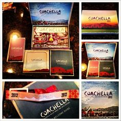 coachella wrist band delivery package. assembles into a 3d pop up map. so awesome.