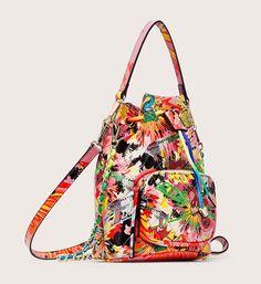 Sac à main Bourse Desigual par María Escoté - 😍Découvrir ici - #SacDesigual #Sacshopping #Desigual #bags #fashion #mode #instafashion #sacsamain #MaríaEscote Bucket Bag, Bags, Fashion, Cheap Designer Purses, Cords, Purse, Handbags, Moda, Fashion Styles
