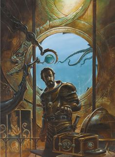 #Steampunk Tendencies | Didier Graffet made this painting for the Jules Verne's novel : 20 000 league under the sea.