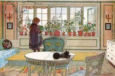 Carl Larsson. Artist from Sweden. We visited his house last spring.  Love his work.