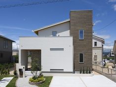 Architecture in Japan Facade Design, Exterior Design, House Design, Building Extension, Weekend House, Simple Interior, Modern Architecture House, Japanese House, House Front