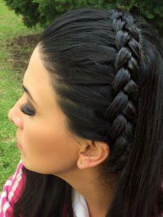 Trenza por @tania8824 Cute Hairstyles, Braided Hairstyles, Afro, Hair Conditioner, Hair Inspo, Curly Hair Styles, Braids, Hair Color, Hair Beauty