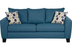 Shop for a Bonita Springs Blue Sleeper Sofa at Rooms To Go. Find Sleeper Sofas that will look great in your home and complement the rest of your furniture. Contemporary Sofa, Blue Living Room, Blue Sleeper Sofa, Navy Blue Sofa, Affordable Sofa, Sofa, Blue Sofa, Rooms To Go, Sprung Sofa