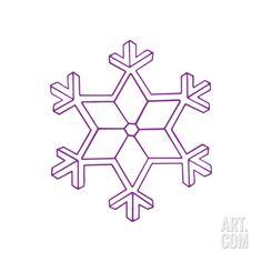 Creative ideas diy salt dough snowflake ornaments - Snowflake Purple Christmas