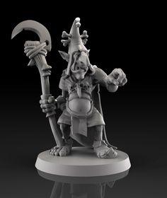 Goblin wizard 3d printable model