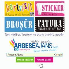 Tüm matbaa tasarım ve baskı işlerinizde yanınızdayız: http://www.argeseajans.com #Matbaa #ReklamAjansı
