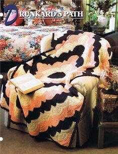 Drunkard's Path  Annie's Attic Crochet Afghan Pattern Instructions