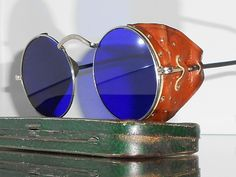 Goggles Vtg Steampunk Motorcycle Matsuda Antique Safety Sun Glasses w Shields | eBay