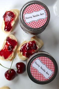 Cherry Vanilla Jam From Ball Fresh Preserver, Yesterday on Tuesday MAKES 4 (½-PT) JARS Ingredients: • 4 cups of chopped cherries • 2 Tbsp. bottled lemon juice • 1 cup of water • 3 Tbsp. Ball® Classic...