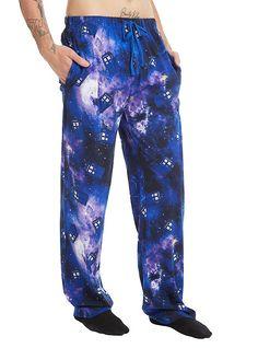 Doctor Who Galaxy TARDIS Guys Pajama Pants, BLACK